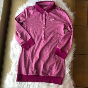Women's Nike Golf dri fit long sleeve polo small